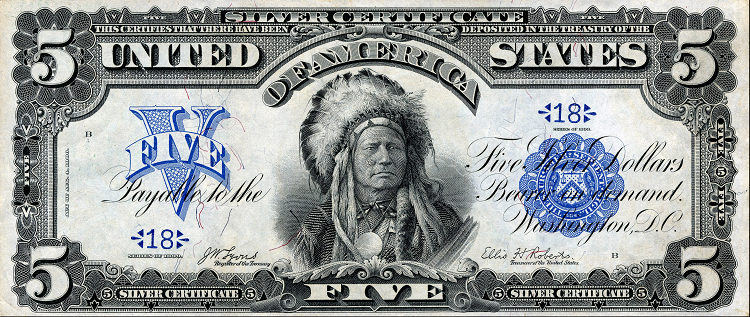 $5 silver certificate of 1899
